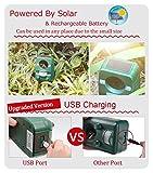2er-Set AngLink Solar Katzenschreck Ultraschall abwehr mit Batteriebetrieben und Blitz - 4