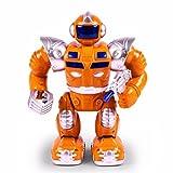 robotica para niños, evolution robot Led Juguetes de Hablando de simulación Walking Dancing Robótico Juguete Educativo Astronauta Electrónico Robot Inteligente para ninos (Naranja)