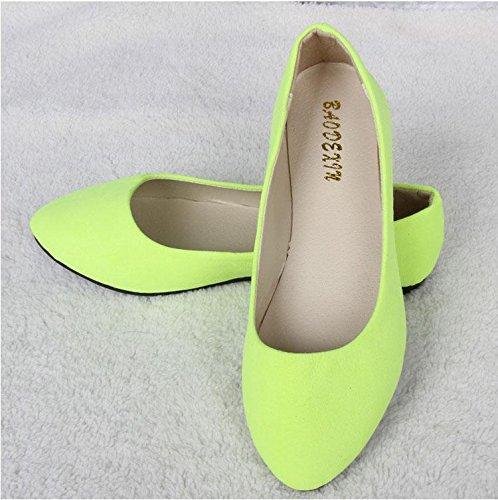 LvYuan Scarpe da donna / pelle scamosciata / ufficio & carriera / tacco piatto / comodità casual / moda casual / mocassini & scarpe da ginnastica / scarpe pigro camminate 1#