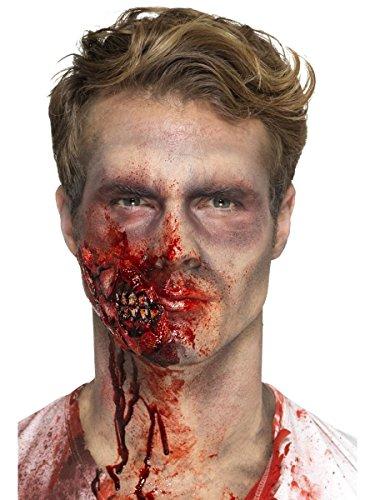 Latex Zombie Kiefer mit Klebemittel Halloween Kostüm (Halloween Kiefer Kostüme)
