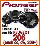 Peugeot 206, 206cc, 206sw, 206+ - Pioneer TS-G173Ci - 16cm Lautsprecher Einbauset