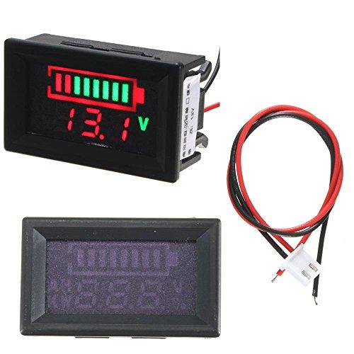 ELEGIANT Digitale 12V Säureblei Batterien Indikator LED Akku Kapazität Tester Voltmeter Acid Lead Batteries LED Indicator Battery Capacity Tester Voltmeter -