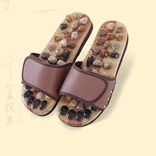 Qian Goose pie de piedra suave acupoint masaje salud inicio pie desgaste antideslizante zapatillas , 43-44