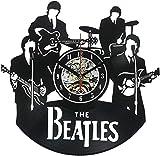 GLJF Wanduhr Schallplatte Uhren batteriebetrieben Dekoriert Wohnzimmer Geschenk für die Beatles-Fans