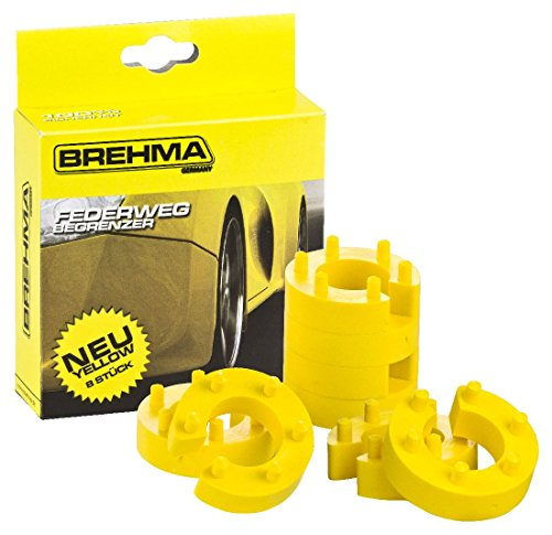 BREHMA Federwegbegrenzer Yellow Stick 22mm 8er Set universell Mit 6- fach Positionierung Federwegsbegrenzer