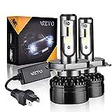 WZTO Lampadine H4/9003 LED 10000LM,6000K 12-24V Fari Abbaglianti o Anabbaglianti per Auto,IP65 Impermeabile Kit Sostituzione per Alogena Lampade e Xenon Luci (2 pacchi)