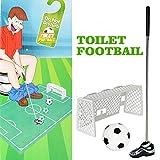 TianranRT WC Mini Fußball Golf Spielzeug Badezimmer Spiel Neuheit Setzen Geschenk Spielzeug Trainer Set