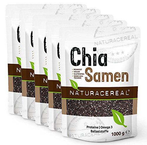 semi di chia naturacereal - 5kg - qualità senza pari originaria del sud america. produzione in germania