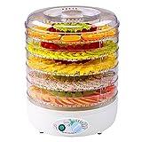 ZXZ-GO Máquina deshidratadora eléctrica de alimentos Máquina de frutos secos de 5 niveles Altura ajustable con control digital de temperatura (Apagado automático)