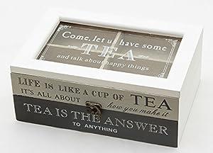 Alice de la collection Boîte en bois avec 6compartiments pour sachets de thé