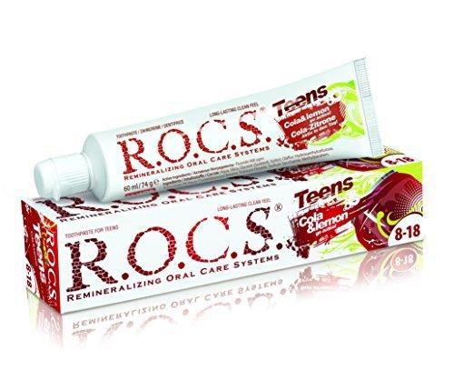 Rocs Teens Cola + Zitrone Zahnpasta, 74 g - Zitrone Zahnpasta