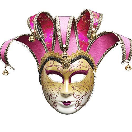 ZHAORLL Venezianische Maske Maskerade Maske Persönlichkeit Karneval Make-Up Halloween Kostüm Kleid Ball Party Dekoration Supplies Maske,A