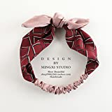 MultiKing Stirnband Kopfbedeckungen Wild Fabric Ribbon Bow Retro Knoten Waschen Kurzes Haar binden Europa Stirnband Turban, B