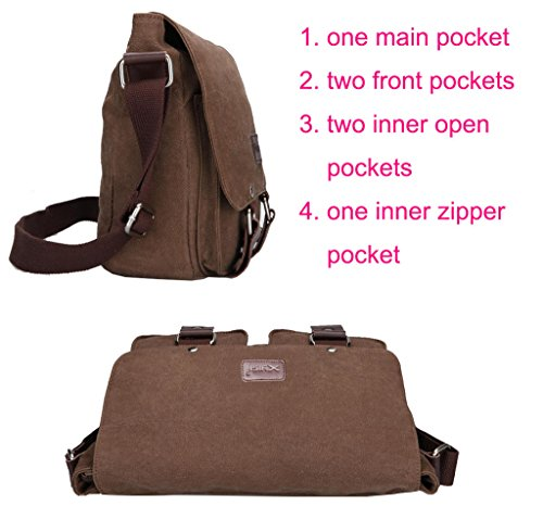 Supa Moden Tela Messenger Bag borsa a tracolla Laptop Bag Vintage Satchel Bag Bookbag scuola borsa lavoro borsa crossbody borsa per uomini e donne, Uomo, Blue Green