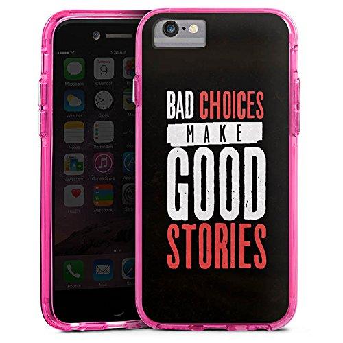 Apple iPhone 7 Bumper Hülle Bumper Case Glitzer Hülle Sayings Phrases Sprüche Bumper Case transparent pink