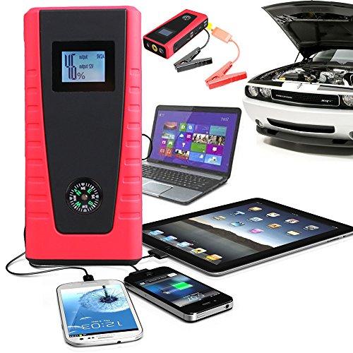 Indigi® Ultra-Portables Pocket Größe Auto Jump Starter Handy Power Bank Backup Ladegerät Hiking Camping Travel Kit (rot) Ultra Portable Jump Starter