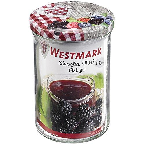 Westmark 66952270 Pot à renverser 440ml, Verre, Argent, 12 cm