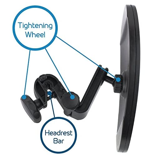 Baby Car Mirror - Highest Stability | Clamp Design | Quick Installation | 100% Shatterproof | Easily Adjustable | PREMIUM QUALITY
