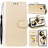 Huawei Honor 7C Card Holder Case, Huawei Honor 7C Wallet Case Slim, Huawei Honor 7C Folio Leather Case Cover Shockproof Case With Credit Card Slot, Durable Protective Case Compatible With