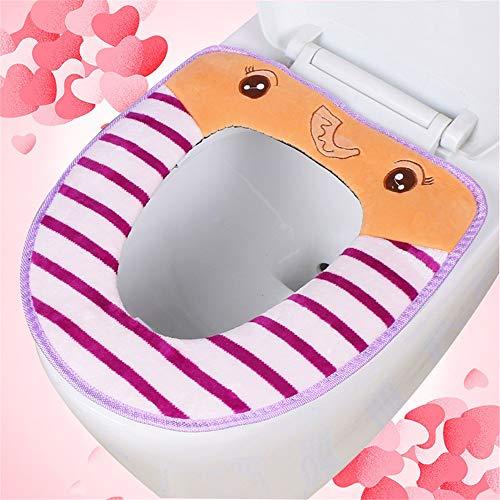 Wc - Ring, Wc - Kissen, Cartoon - Stickereien Verdickte Toilette Ring Bequemen,Violet,Elefanten - Zahlung - Elefanten Weichen Kissen