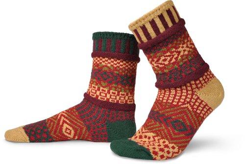 Solmate calzini-Odd o Mismatched calzini per donna o da uomo, in cotone riciclato realizzato con fili in USA Maple Leaf Medium
