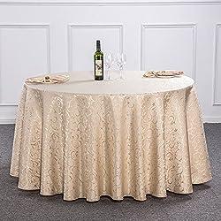 mantel de redondo para Hotel /paño/ manteles del restaurante del hotel/ mesa cuadrada/Redondo mantel de boda de estilo europeo/ lino de tabla para uso doméstico/ mantel-D diámetro300cm(118inch)