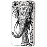 iphone 4 4S Aztec Indian Elephant Cool Funky Design H�lle Case Back Cover Metall und Kunststoff
