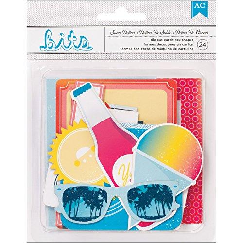 American Crafts Shoreline Bits Stanz-Verzierungen, 24 Stück, Dollar