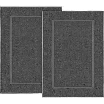 Utopia Towels 2er Pack Groß Badematte Badvorleger 985 Gm² 100 Baumwolle Frottee Waschbare Badteppich 53 X 86 Cm Grau