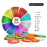 1.75mm PLA Filament,3D Pen Refills,10 Colors,16 Ft/5M Each,Total 164 Feet,Dimensional Accuracy ±0.02,Vacuumed Sealed Package,M1 3D Printing Pens Enotepad PLA Filament Set