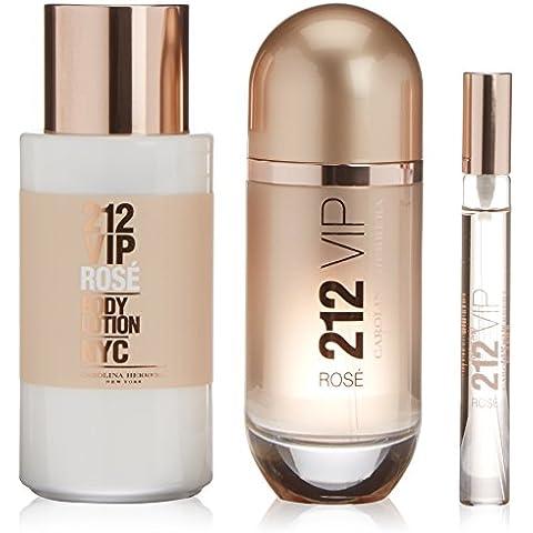 Carolina Herrera 212 Vip Rose Acqua di profumo + Lozione per il corpo + Profumo Mini - 1 Pack