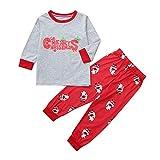 TianWlio Baby Weihnachten Pyjamas Bekleidung Baby Weihnachten Outfit Baby Mädchen Weihnachtsmama & ich Kinder Mädchen Lange Ärmel Karikatur Tier Drucken Kleid