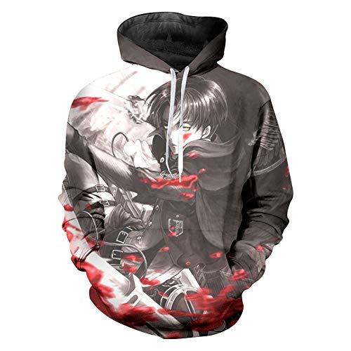 Kostüm On Hoodie Titan Attack - XJXDWY 3D Sport Hoodie Lässige Pullover Unisex Bewegung Phantasie Kostüm Digitaldruck Attack on Titans M