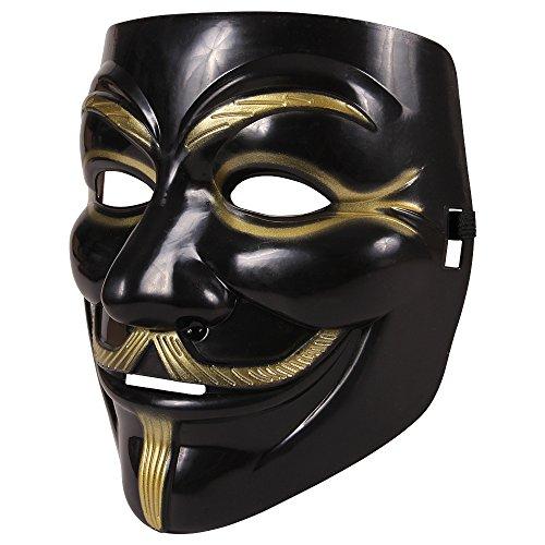 een Horror Faching Karneval Maske - Anonymous Vendetta Karneval Schwarz (Guy Fawkes Perücke)