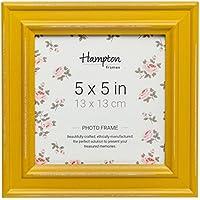 Hampton Frames - Marco de Fotos Cuadrado, Color Mostaza, 13 x 13 cm