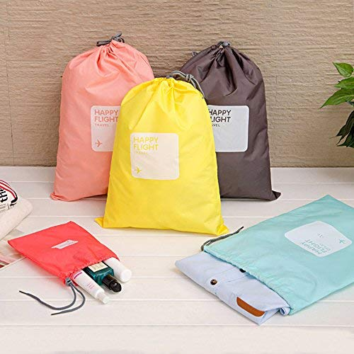 Lvcky 4 Stück Wasserdichte Aufbewahrungstasche mit Kordelzug/Ditty Bag/Kordeltasche / Schuh Tasche für Reisen Zuhause Outdoor Wandern Camping -