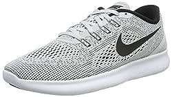 Nike Herren Free RN Laufschuhe Grau (White/Black-Pure Platinum) 44 EU