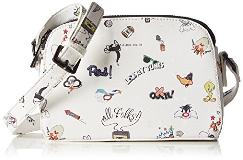 Paul & Joe Messenger Bag, Borsa a tracolla donna Bianco Weiß (Blanc 01 01) 13x17x9 cm (B x H x T)