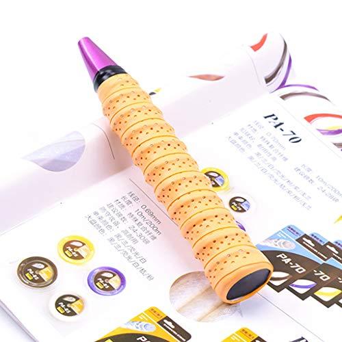 Lifet Rutschfestes Premium Griffband - Anti Rutsch Overgrip Band für Tennis, Badminton & Squash Schläger - Tennis-Griffbänder für Dein Racket (Orange) (Yonex Band)