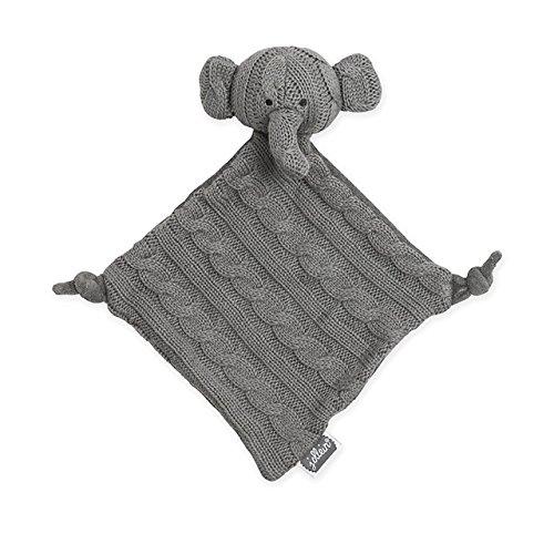 Jollein 041-001-64897 Schmusetuch Strick Elefant grau