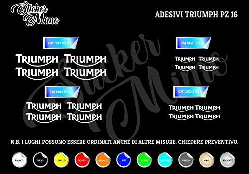 Triumph Decalcomania Adesivi Stickers Kit 16 Pezzi Sponsor Tecnici Moto Casco Motorbike