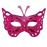 Lazzboy Karneval Maske venezianische Maskerade Masken Karneval Cosplay(M,Rosa)