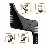 YUMSUM Modèle de barbarie Maquillage de moustaches Outil Shaper ABS Peau de barbe - Coupe coupée, coupe à pas, décolleté, chevauchée pour barbes de cheveux pour hommes