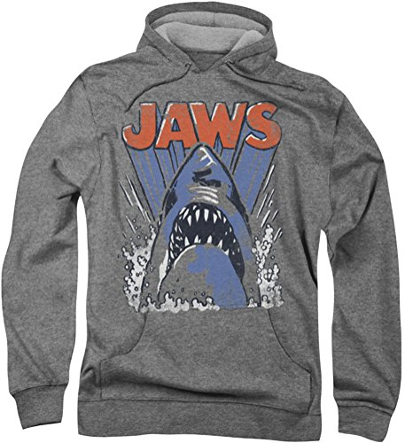Jaws-Comic Splash-Felpa con cappuccio da uomo Athletic Heather