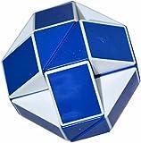 Coolzon® Snake Magic Ruler 24 Parts Twist Puzzle White(Blue)