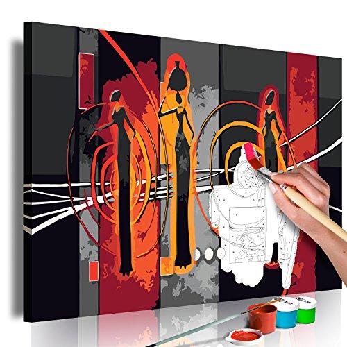 murando - Malen nach Zahlen Ethno Afrika 60x40 cm Malset mit Holzrahmen auf Leinwand für Erwachsene Kinder Gemälde Handgemalt Kit DIY Geschenk Dekoration n-A-0396-d-a