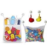 JZK 2 Sacca rete porta giocattoli da vasca porta shampoo rete portagiochi portagiocattoli bagno bambini retina porta giochi bagno organizer giochi bagnetto