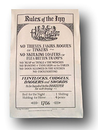Rules Of The Inn Galley Tea Towel - No skulking loafers..... (Loafers Baumwolle)