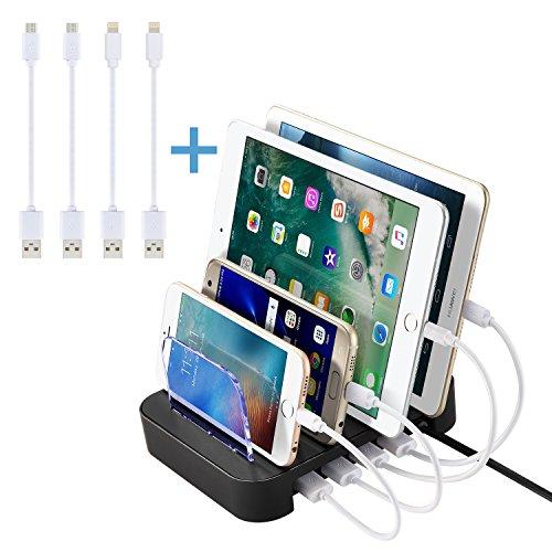 NexGadget, Estación de Carga Desmontable 4 Puertos para la Mayoría de los Dispositivos de Carga USB (A4K) width=