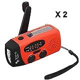 The Friendly Swede Radio-Lampe Portable avec Charge à Dynamo ou à Energie Solaire...